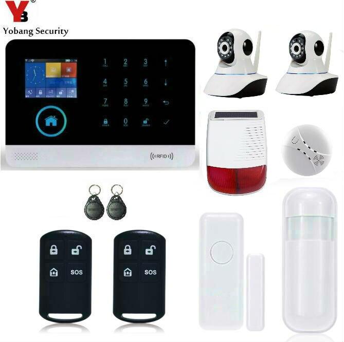 Yobang font b Security b font Home Intrusion APP WIFI GSM Alarm System IP font b