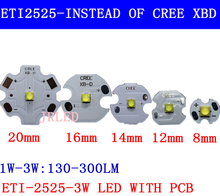 10pcs 3W Nation Star 2525 SMD High Power LED diode Chip light emitter Cool Neutral White Warm White instead of CREE 2525 XB-D le
