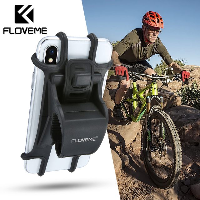 FLOVEME Universal Bicycle Mobile Phone Holder For iPhone X Motorcycle Bike Handlebar Stand Mount Bracket For Samsung Xiaomi mi8