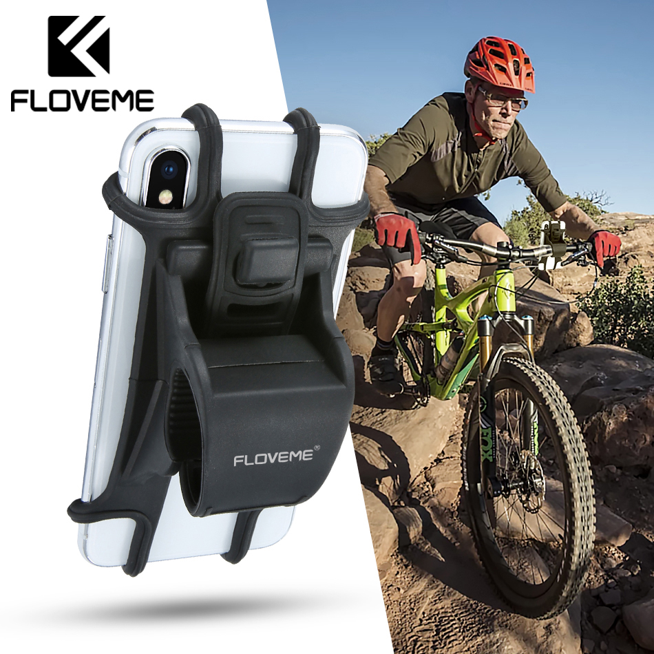 FLOVEME Universal Bicycle Mobile Phone Holder Motorcycle Bike Phone Holder Handlebar Stand Mount Bracket For Samsung Xiaomi mi8