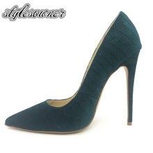 Stylesowner 2018 venta superior de alta calidad Tacones altos terciopelo  mujer Zapatos fino Tacones 12 cm aguja sexy femenina gr. 8373d9ab0525