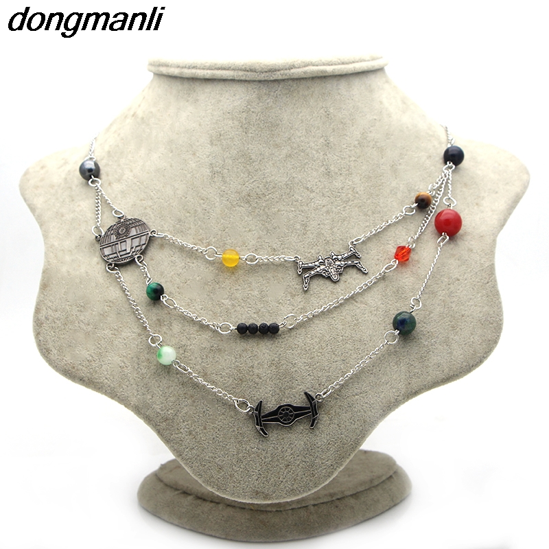 P1304 Dongmanli wholesale 10pcs/lot Star Wars Universe Galaxy Planets in the Solar System Guardian Star Natural necklace