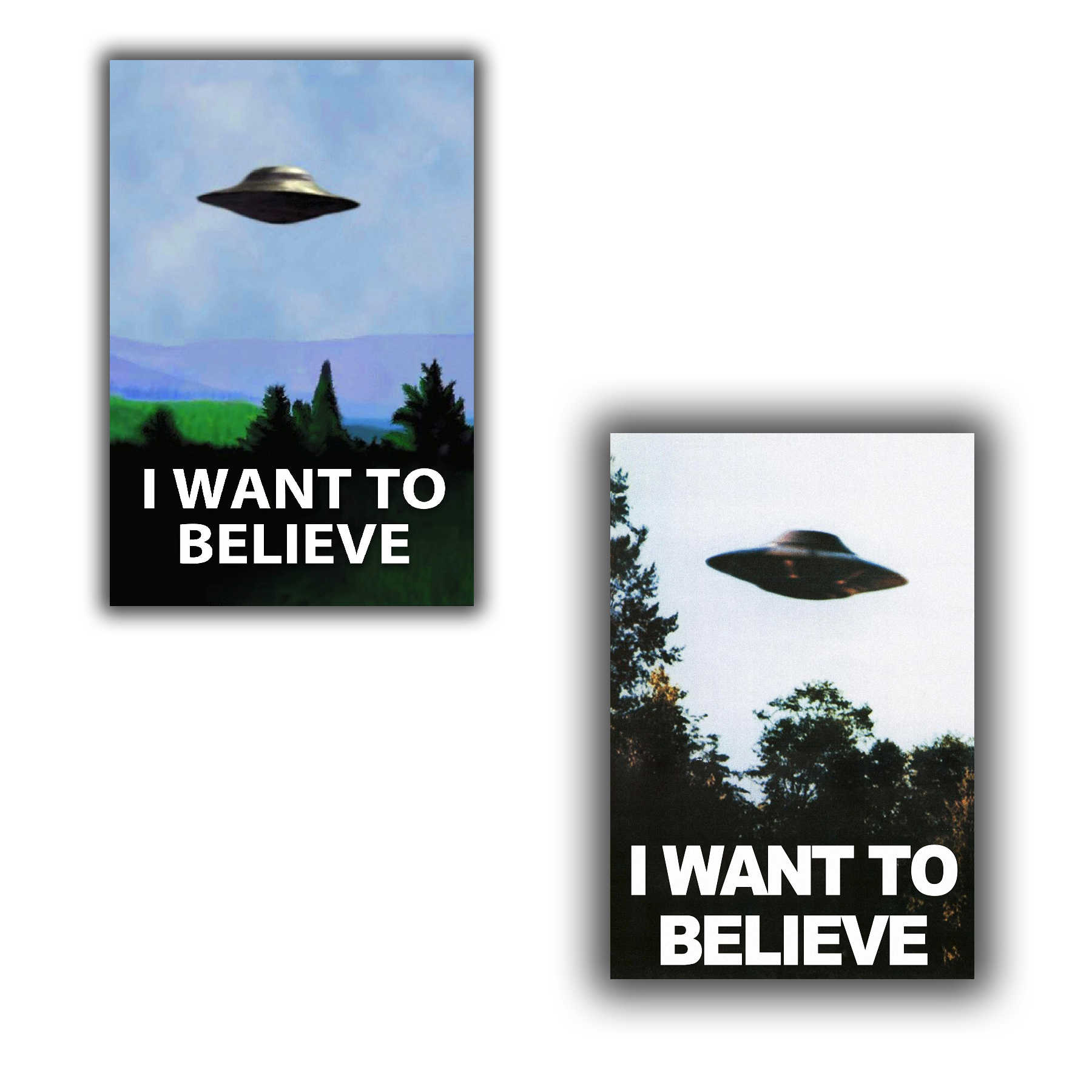 "I Want to believe-il x file TV poster UFO Serie TV Immagini 12x18 ""24x36 ""porta decorazione"