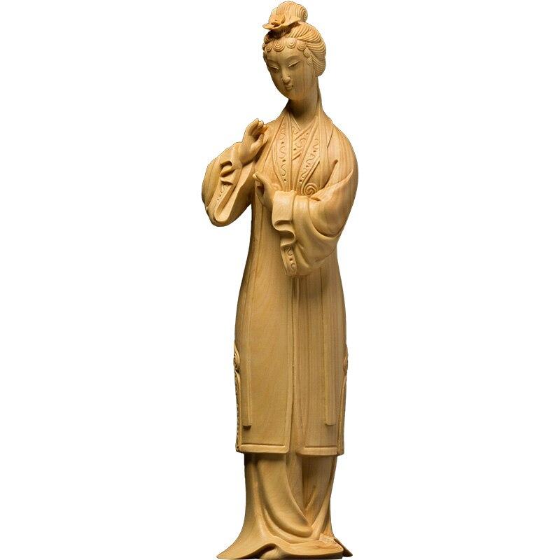 Drame palais femme beauté style chinois ornements maison sculpture artisanat drame bois créatif salon