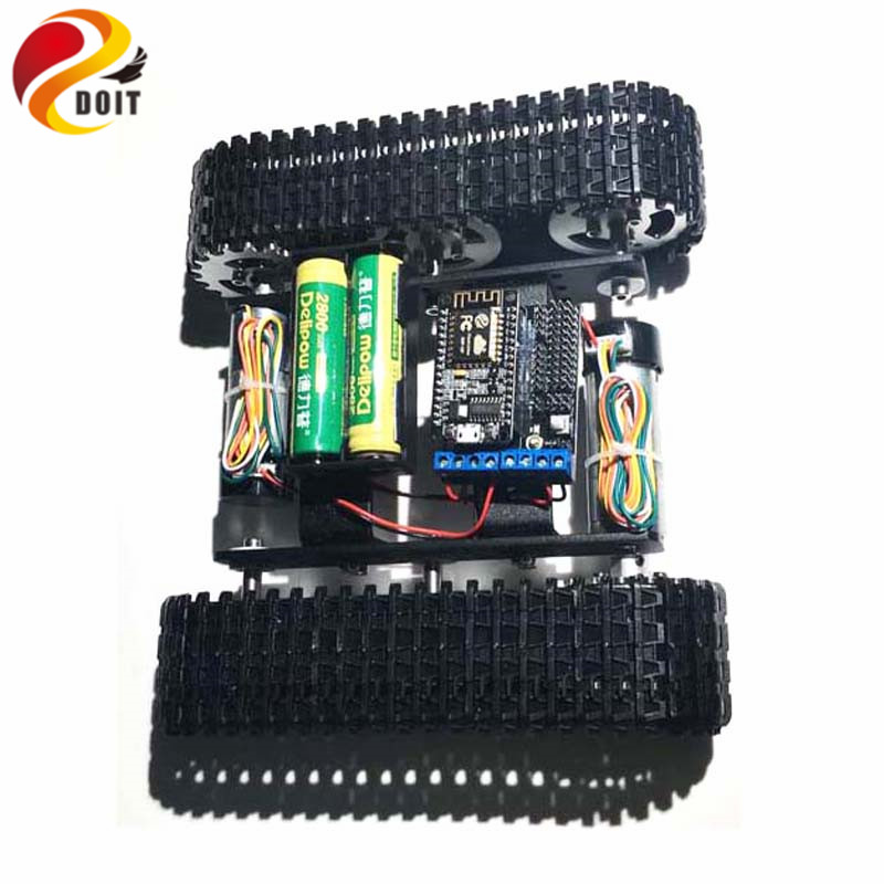 DOIT Mini T100 Crawler Tank Car Chassis with Nodemcu Wireless WiFi Controller Kit Tracked Robot Competition DIY Toy Kit diy tracked robot