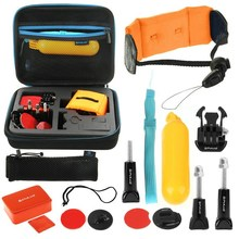 PULUZ 14 in 1 Surfing Combo Kit with EVA Case Stocker for Gopro SJCAM Xiaomi Yi Accessories New Arrival