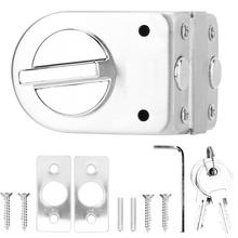 Glass Door Lock Stainless Steel Single 10-12mm Safurance glass door with Knob Keys for Home Accessories