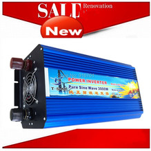 6000W Peak 3000W Pure Sine Wave Power Inverter 12V DC Input to 220V AC Output for Power Tool,air conditioner