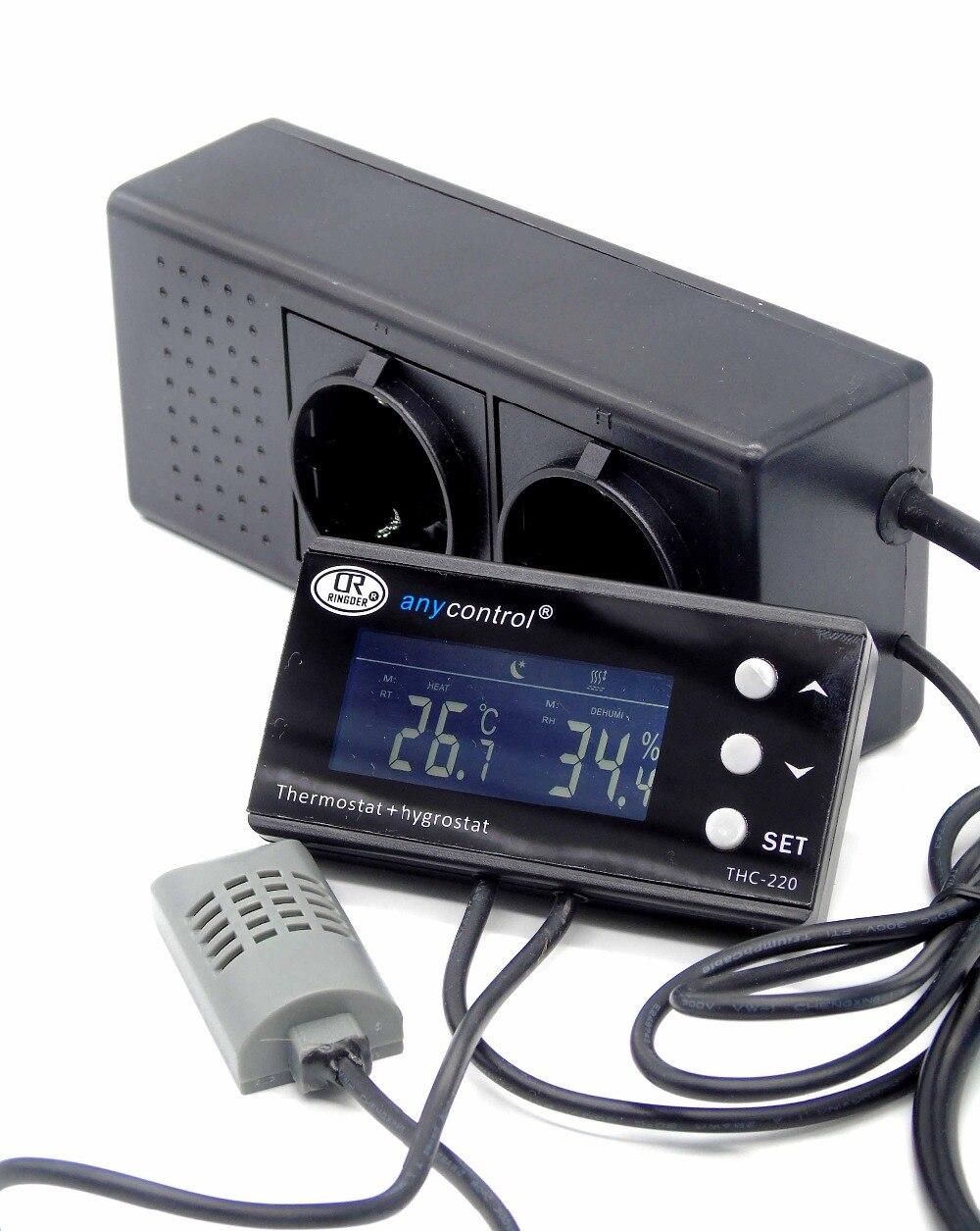 Egg incubator intelligent temperature humidity controller with Thermo hygrostat Greenhouse Reptile Terrarium