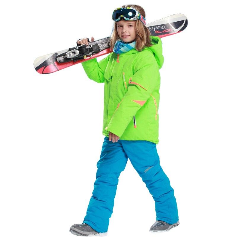 2018 Enfants Garçons Vêtements combinaison de Ski Coupe-Vent 5000 Vestes de Ski + pantalon définit Hiver Neige Sport Costume pour Garçons Enfants En Plein Air Chaud ensemble