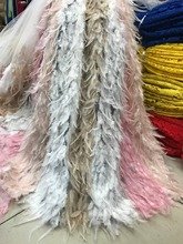 feather lace fabric handmade african 2019 high quality wedding dress evening/show