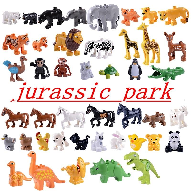 Legoing Duplo Tiere Jurassic Welt Dinosaurier Jurassic Park Puppen Figuren Dinosaurier Drachen Bausteine Set Spielzeug für Kinder