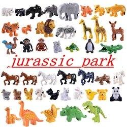 Legoing Jurassic Welten & duplo jurassic park Puppen Locking Zahlen dinosaurier drachen Bausteine Spielzeug für Kinder block geschenk