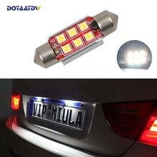 1x автомобиля светодио дный ошибок 36 мм C5W 3030 SMD лампа 12 В номерной знак свет для BMW E46 E90 E92 E39 E53 E60 E71 Mini Cooper