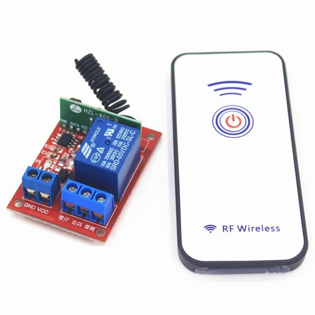 433 Mhz 5 V DC 10A 1CH receptor de Control Remoto inalámbrico Remoto interruptor de bloqueo automático módulo de relé de palanca para Motor de puerta de garaje ligero