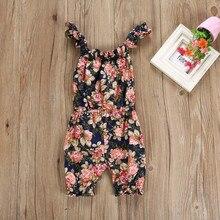 Newborn's Floral Sleeveless Pajamas