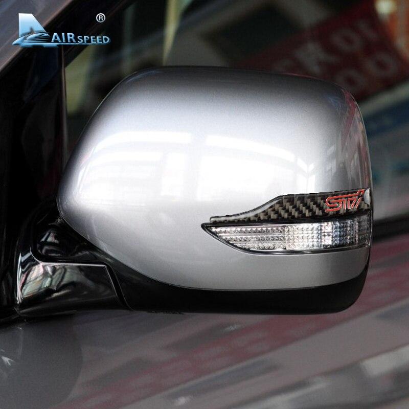 Airspeed STI Carbon Fiber Rearview Mirror Anti-scratch Stickers for Subaru Tribeca XV Legacy Forester Outback WRX Impreza Levorg subaru impreza wrx sti самара продаю