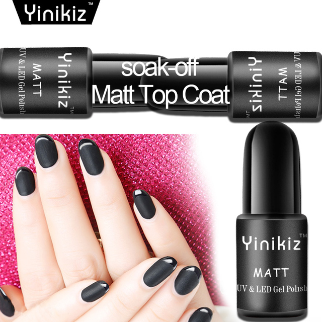 Yinikiz Transparent Matte Gel Varnish for Design Matt Black Surface ...