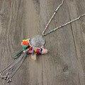 2017 New arrival Moda Handmade Colorido Tassel Cadeia Longa tassel Gota Tibete pingente de Prata colares de Cadeia Longa para a senhora