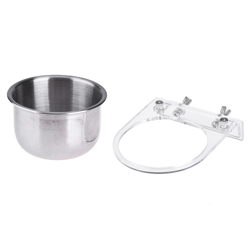US $3 65 18% OFF Stainless Steel Pets Bird Feeding Bowl Parrot Conure  Caique Cockatiel Food Water Feeder Supplies Free shipping-in Bird Feeding  from