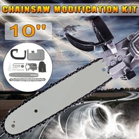 Doersupp 10 Inch Woodworking Chain Saw Bracket Set For Angle Grinder DIY Electric Saw Chainsaw Transfer