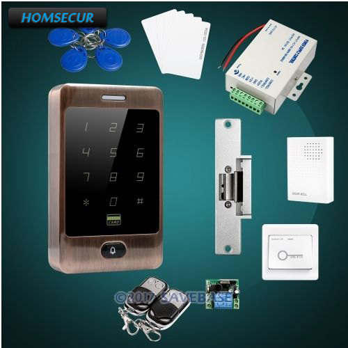 HOMSECUR IP67 Fully-Potted Wiegand 26/34 RFID Access System+Electric Strike Lock For Outdoor and Indoor Usage