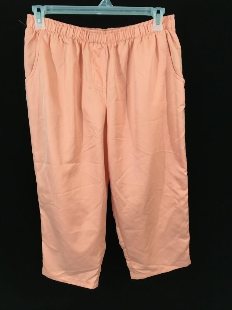f8341b46141 Cathy Daniels capri pant Size XL orange womens elastic waist pull up-in  Pants   Capris from Women s Clothing   Accessories on Aliexpress.com