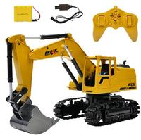 RC Excavator 8CH 2.4G Remote Control Constructing Truck Crawler Digger Model Electronic Engineering Truck Toys For Children