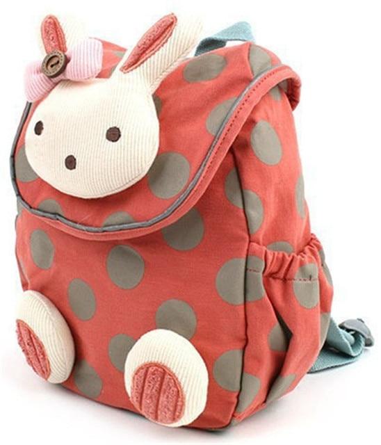 2016 новые мальчики девочки childrencute кролик школьная сумка анти-потерянный рюкзак дети детский сад мешок ребенка мультфильма