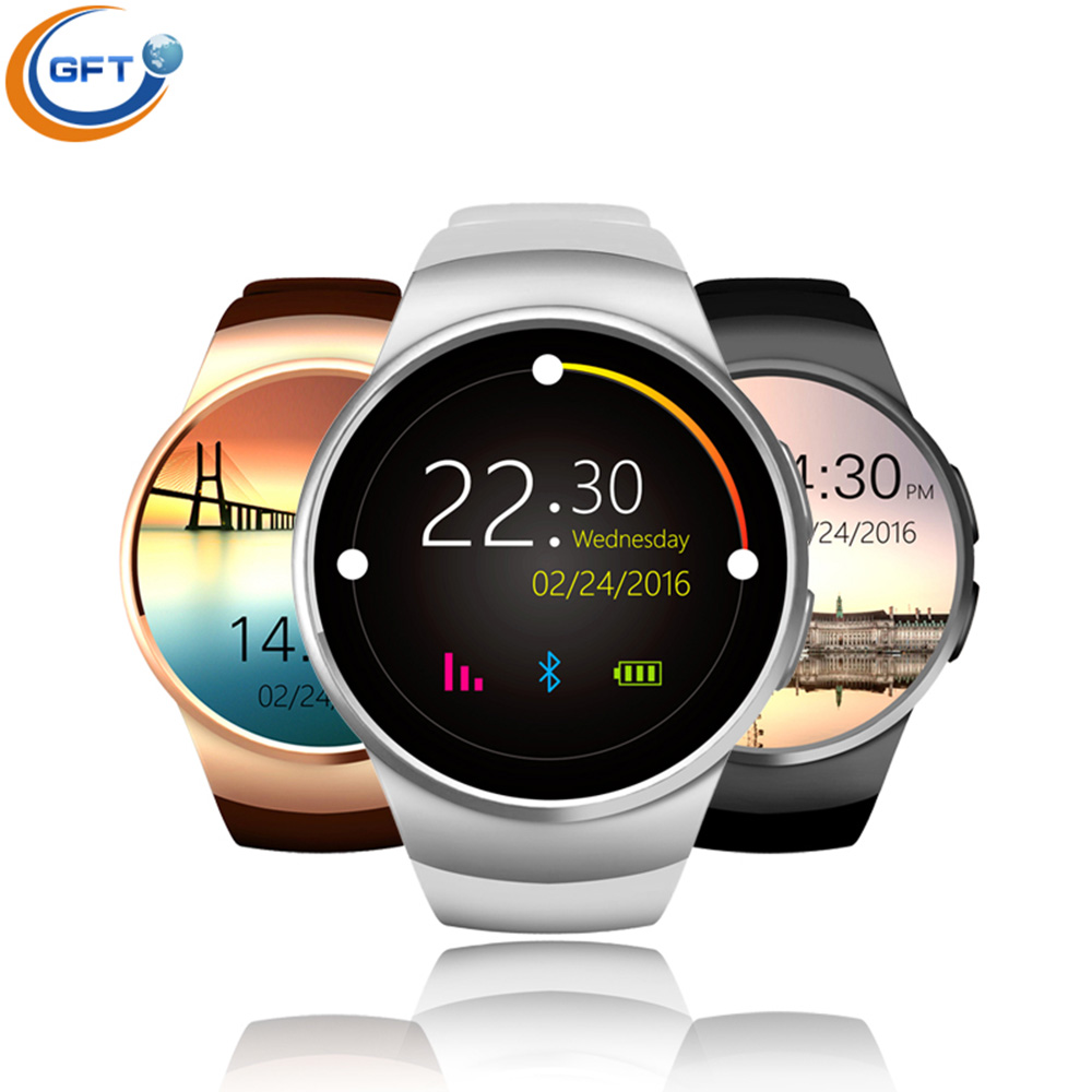 GFT kw18 Bluetooth font b Smartwatch b font Wristwatch Heart Rate Sleep Monitor Pedometer font b
