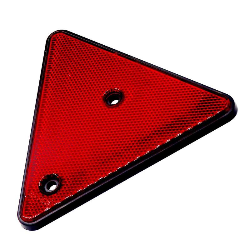 Triangular Red Reflector Screw Fit Rear Triangle For Trailers Caravans Truck Reflector Waterproof Sun Protection Cold Protection