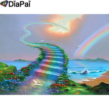 DIAPAI 5D DIY Diamond Painting 100% Full Square/Round Drill Rainbow ladder Embroidery Cross Stitch 3D Decor A21726