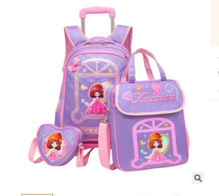 School Trolley backpack for girls kids School Rolling backpack Travel luggage bags wheeled bag for School Trolley bag On wheels