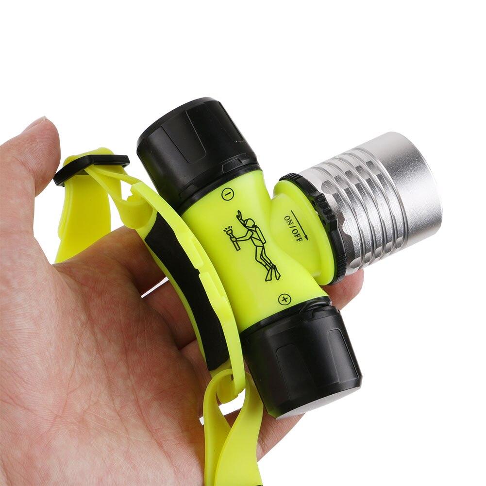 Нарусветильник Водонепроницаемый светодиодный фонарь XPE для дайвинга, налобный фонарь 2000 люмен, налобный фонарь для дайвинга, налсветильни...