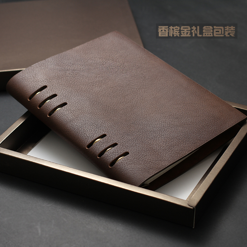 Vintage Logo Name Custom A5 Notebook Diary Loose leaf Mini A6 Writing Pads Business Office Spiral Binder Gift Travelers Supplies
