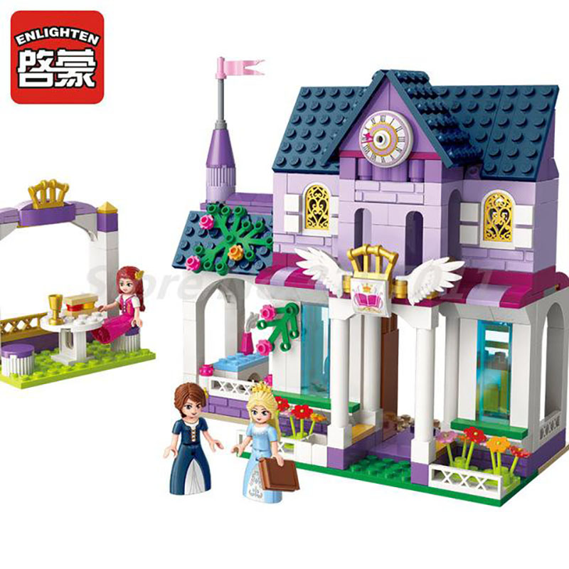 Girls Friends Princess Leah Royal Library Enlighten Building Block 3 Figures 423pcs Bricks DIY Toy For Girl Christmas Gifts princess ponies 6 best friends for ever