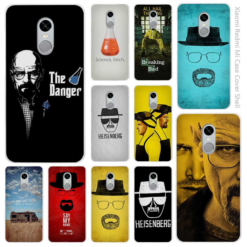 Hot sale breaking bad Clear Cover Case Coque for Xiaomi Redmi Mi Note 3 3s 4 4A 4X 5 5S  ...