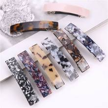 Long Acetic Acid Stone Hairpin Colorful Barrettes Hair Clips Women Hairclip Girls Heaswear Hair Accessories(China)