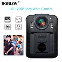 BOBLOV WN9 Wearable Body Worn Camera Audio Recording HD 1296P Police Cam 170 Degree 2 Inch Screen Security Mini Comcorder