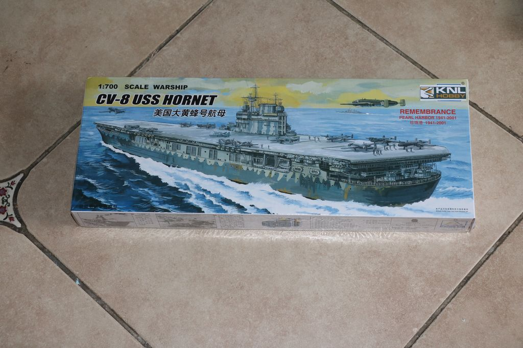 knl hobby 1  700 scale warship cv 8 uss hornet xc80901 carrier trumpeter mini hobby models