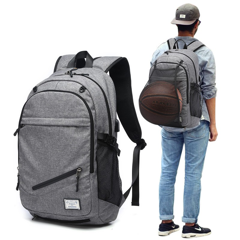 Rucksacks Men Basketball Backpack Bags Travel Mochilas Backbag USB Charging Phone School Bag For teenagers K5