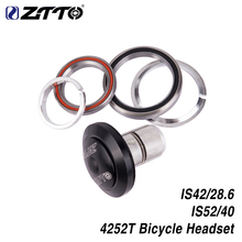ZTTO 4252T MTB Bike Road Bicycle Headset 42mm 52mm CNC 1 1/8-1 1/2 Tapered Tube Fork Integrated Angular Contact Bearing
