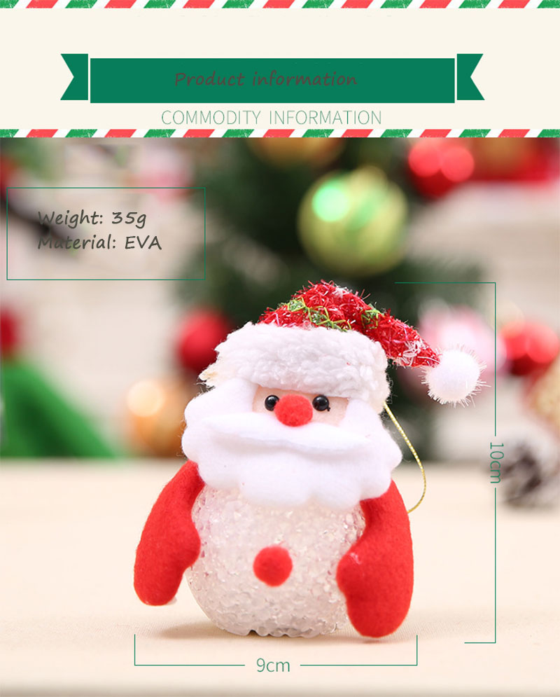 New Year Christmas Decoration for Home accessories Glowing EVA Snowman Nightlight Snowman Christmas Tree gifts Navidad Natal (13)