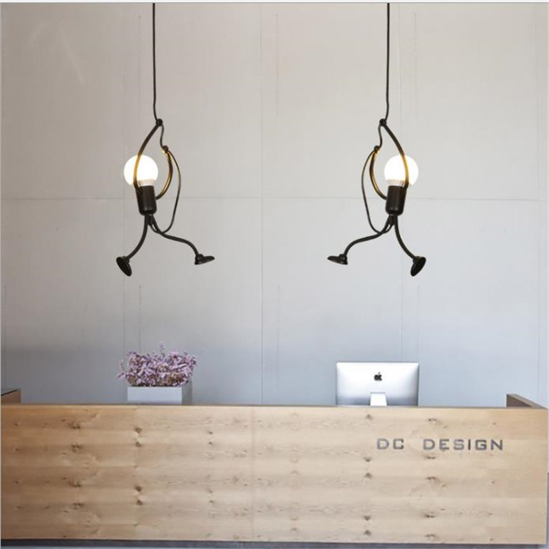 Simple Creative Design Villain Pendant Lamps Iron Indoor lighting for Living Room Bedroom Store Bar Children's Room Chandelier цена
