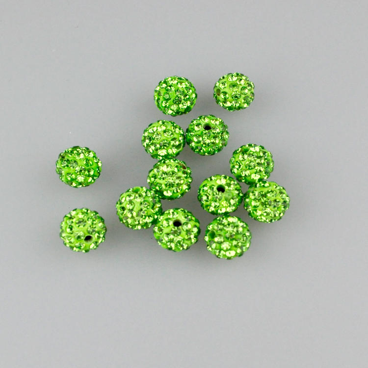Pack 50% OFF Beads Popular Brand 8mm Rosaline Top Quality Czech Crystal Rhinestones Pave Clay Round Disco Ball Spacer Beads For Jewelry Crafts 100pcs