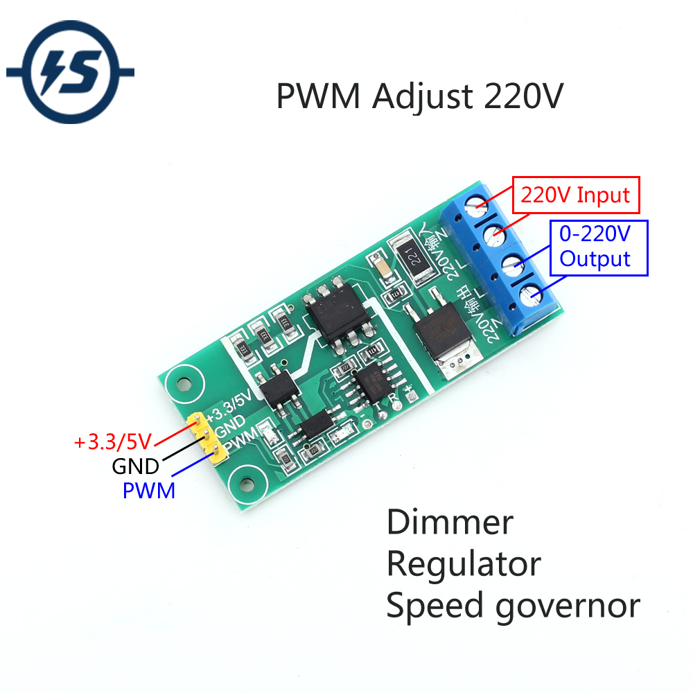 Thyristor Isolation Module PWM Dimming/Governor/Voltgae/Adjusting Speed/Thyristor/SCR/Regulating Regulator Controller AC 220V