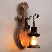NEW loft American Retro Solid Wood Wall Light Industrial Wind Creative Personalitys Restaurant Aisle Decoration