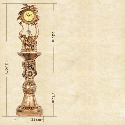 Creative Décoratif Étage Horloge Éléphant Salon Rétro Horloge Chanceux Résine Créatrice De Plancher Horloge Classique Décoratif Pendule