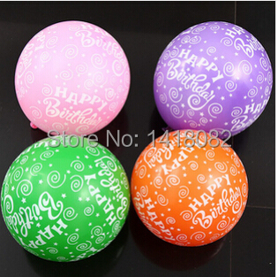 50pcs  lettering happy birthday balloons thickening 12inch 2.8g  latex ballon bi