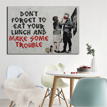 Banksy Street Art Canvas Painting Prints Wall Pictures For Living Room Home Decor Modern Oil Posters